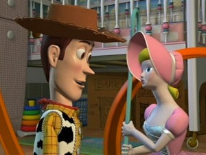"""Toy Story"" shot showing no artificial focal depth"
